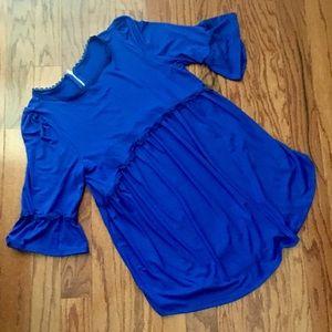 Price ⬇️ 3/4 sleeves royal blue tunic SZ L 12/14